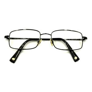 Flexon Gunmetal Rectangle Eyeglasses Frames